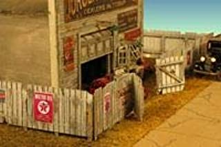 Monroe Models HO Junk Yard Fence with Signs 176 Scale Feet New Item 2309
