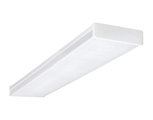 NICOR Lighting 4 Ft. Dimmable LED Wraparound with Prismatic Acrylic Lens in 3000K (ACW-20-4S-UNV-30K)