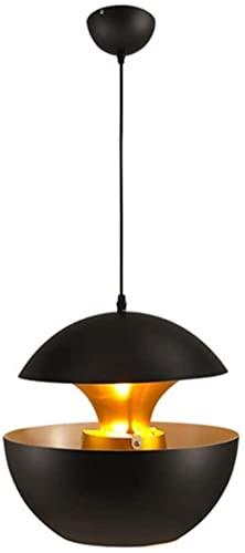 RR&LL LED nórdico Lámpara de Colgante, Acabado Mate Moderno Tipo de suspensión de Acento de latón Lámpara de Techo, Adecuado para Barra de Restaurante Pasillo de Pasillo Blanco/Negro