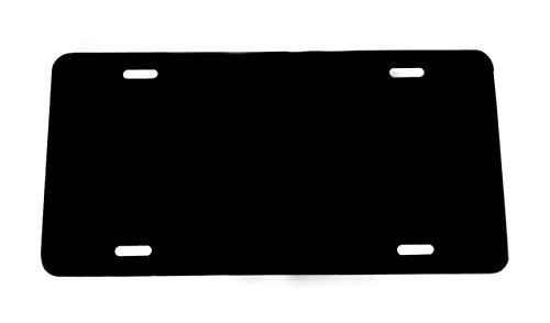 BLACK - Aluminum License Plate Blank 12x6 .040 Gauge (1mm) - Laser Cut and MADE IN USA