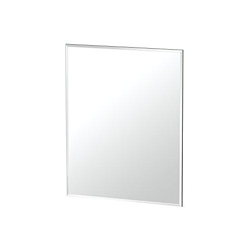 "Gatco Beveled Easy Mount Mirror, 24"" H x 19.5"" W, Silver"