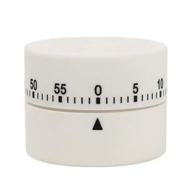 HCFSUK Temporizador de Cocina, Reloj Despertador de Cuenta Regresiva de Cocina de 60 Minutos, operación con un botón para Maestros, niños y peluqueros, Adecuado para Cocina, Aula, Clase de Yoga, co