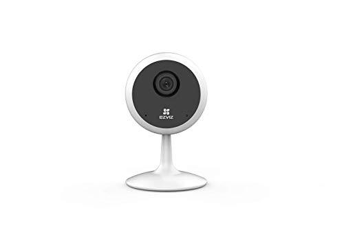 EZVIZ C1C 720p Cámara de Seguridad, 2.4 GHz WiFi Cámara de Vigilancia, Audio Bidireccional, Visión Nocturna, Monitor de Bebé, Servicio de Nube Disponible, Compatible con Alexa, IFTTT