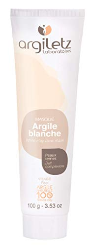 Argiletz white clay face mask for dull skin 100g / 3.53 fl.oz. 100% sourced and produced in France. Finest grade of clay.