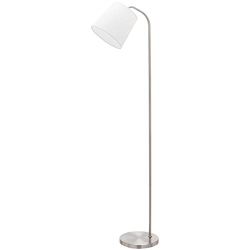 Umi. by Amazon - Lampara de pie, pantalla de tela, curvada, 161,29 cm, beige