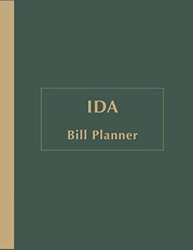Ida Bill Payments Tracker: Custom Planner Navy Monthly Bill: Payment Organizer and Debt Tracker Keeper Log Book Money Journal Budget Money Notebook