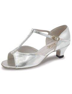 Roch Valley Lara Standard Tanzschuh für Damen und Mädchen Silber 3 (36) - 2