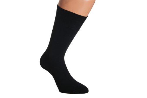 Vitasox 31039 Herren Socken Baumwolle ohne Gummi Schwarz 12er Pack Super XXXL 52/54