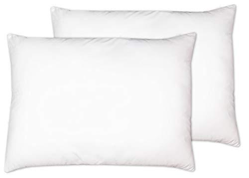 ZOLLNER 2er Set Kopfkissen, 50x70 cm, 100% Polyester, 530 g, weiß