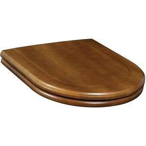 Villeroy & Boch WC Sitz paßt nur zu HOMMAGE nur für 666310 Massivholz nussbaum Scharniere edelmessing, 9926K600