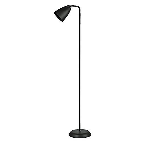 Coluna abajur de piso, Lamp Show, 142x23cm, metal preto