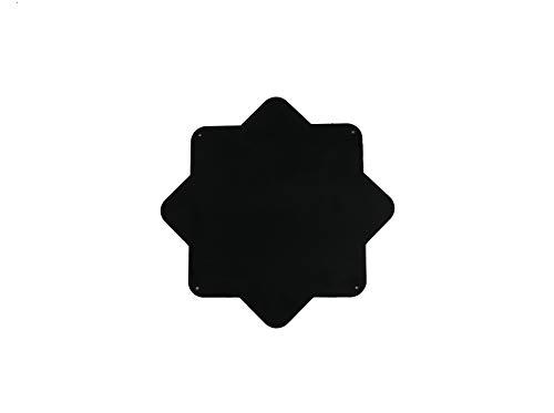 NX® Design Kerzenständer Kubus Cube schwarz (Platte schwarz)