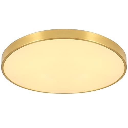 Accesorio de iluminación DIRIGIÓ Luz de techo redondo 3600 lúmenes 6000k Blanco cálido Luces de techo de montaje ultrafino ultra fino impermeable DIRIGIÓ Accesorio de iluminación de techo para sala de