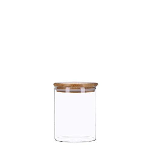 Vorratsdosen aus Glas mit Bambusdeckel, Vorratsgläser, Glasbehälter | 350 ml - 2200 ml | luftdicht, Spülmaschinenfest, Mottensicher (700 ml)
