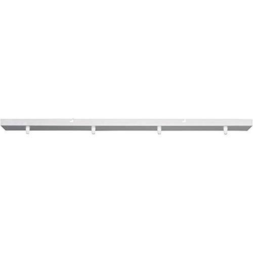 Girard Sudron Lampen Baldachin 4-fach Metall rechteckig 90 x 9,5 x 2,5 cm, Weiß
