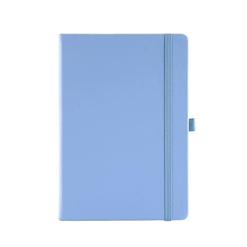 Cuaderno de espiral clásico Diario, correa de cuaderno de línea horizontal A5 PU Diario de cuero 100 hojas / 200 Página Cuaderno para oficina, hogar, escuela, negocios Productos de oficina, útiles par