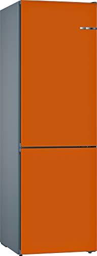 Bosch KVN39IOEA Serie 4 VarioStyle - Frigorífico independiente/A++ / 203 cm / 273 kWh/año/Puerta frontal intercambiable naranja / 279 L / 87 L congelador/NoFrost/VitaFresh