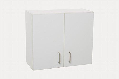 Hermes24 Küchenschrank Hängeschrank Oberschrank Badschrank REGSCWM B/TH 60x27x52 cm Holz Weiss Matt