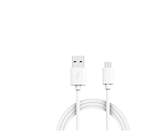 Alcatel One Touch PIXI 3 Oplaadkabel 1 meter USB A naar Micro-USB – Wit (2-Pack)