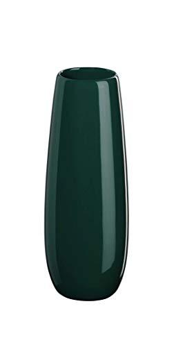 ASA vaas, petrol EASE D. 6 cm, H. 25 cm 91031121 ! Voordeelset bevat 4 x de genoemde artikelen en set met 4 EKM Living roestvrij stalen rietjes