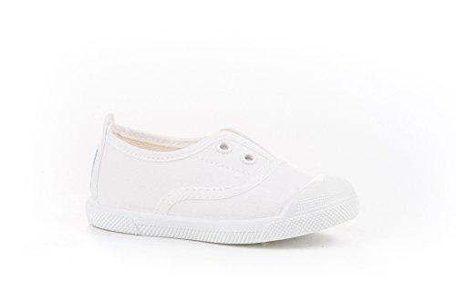 Zapatillas de Lona con Puntera Reforzada para Niños y Niñas, Angelitos mod.124, Calzado infantil Made in Spain, Garantia de Calidad.