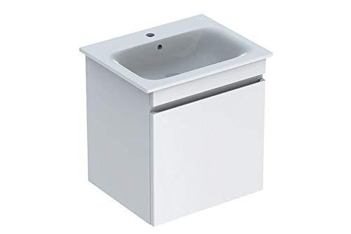 Keramag Geberit Renova Plan Waschtischunterschrank für Waschtisch, schmaler Rand mit 1 Schublade, 53,8x58,5x47,3cm, weiß, 869555000