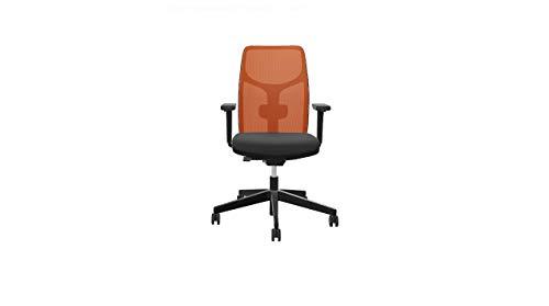 Steifensand Eserio ergonomischer Bürostuhl mit Netzrücken, kompakt, perfekt für Zuhause, orange