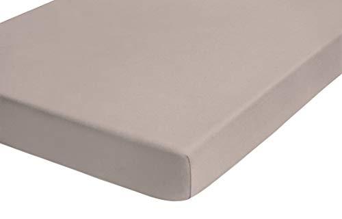 TOM TAILOR Sábana Ajustable en Jersey (Altura del colchón máx. 22 cm), Cotton, Gris Pardo, 180x200 cm- 200x200cm