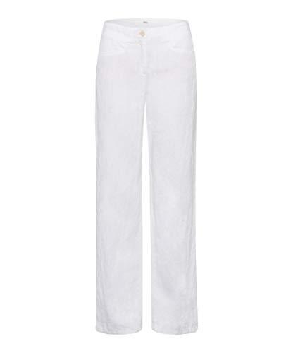 BRAX Damen Style Farina Leinenhose mit legerer Silhouette Hose, Weiß (White 99), 48