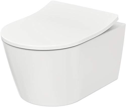 TOTO RP Tornado Flush CW552Y - WC da parete, senza risciacquo, con sedile WC RP TC513Q