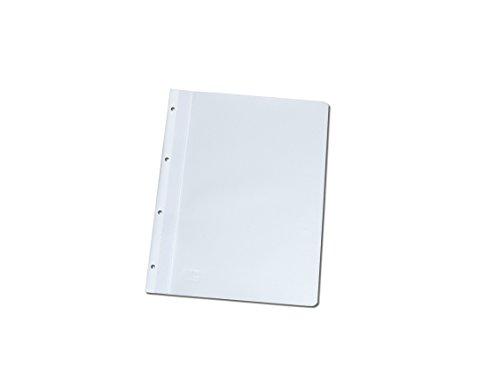 100 Ablage-Schnellhefter/Archiv-Hefter mit Lochung zum Abheften/Farbe: weiß