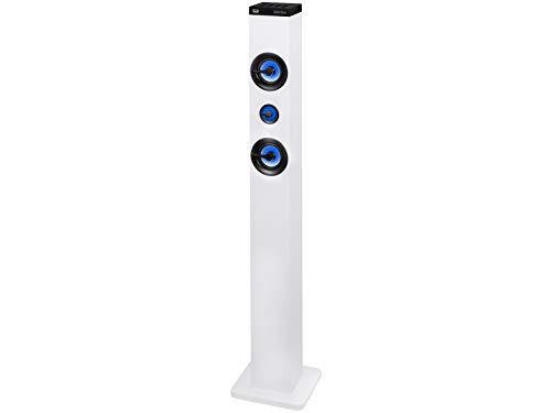 Trevi XT 101 BT Soundtower Altoparlante Speaker Amplificato a Torre con Bluetooth, Mp3, USB, SD, Aux-In, Bianco