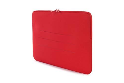 Tucano BFS15-R Second Skin Segno Neopren-Hülle für Notebooks bis 15,6 Zoll, MacBook Laptop Surface Rot
