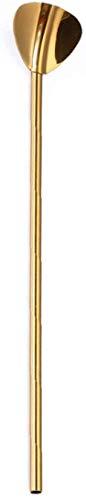 Landingstar Classical RVS 304 Drinkende Rietlepel Sap Roeren Scoop Bar Tool Keuken benodigdheden Heart Shaped Gold-plated Straw Spoon