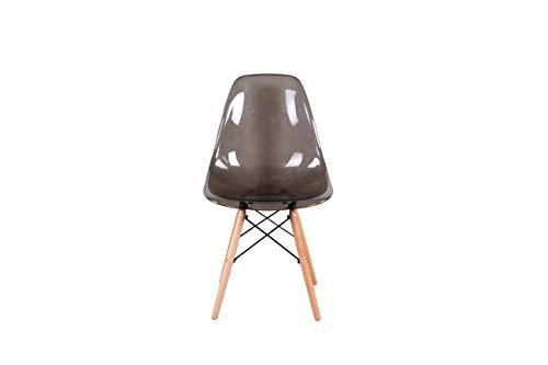 sweethome Lot de 4 Chaise Transparente Chaise Salle a Manger Chaise Jambes de Design Rétro de Cuisine en Polycarbonate Chaise Transparente Convient pour la Cuisine Le Salon (Gris)