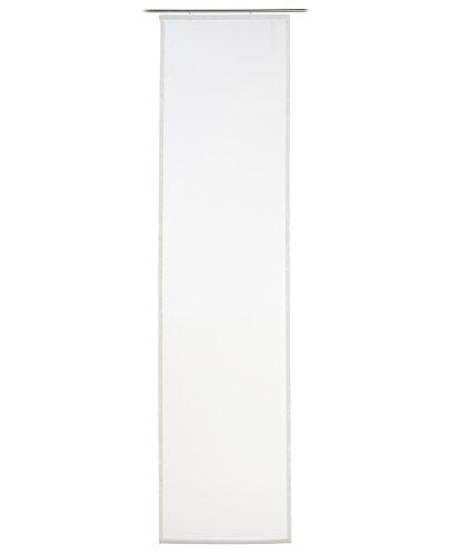 Flächenvorhang Schiebevorhang Schiebegardine Vorhang | Creme | 60x245 cm | Polyester