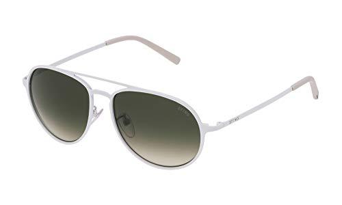 STING SST0045506V6 Occhiali da sole, Bianco (Bianco), 55.0 Uomo
