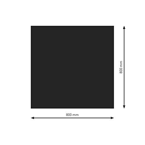 Schindler + Hofmann PU051-3B1-sw Bodenplatte B1 Rechteck/Quadrat schwarz pulverbeschichtet 800 x 800 mm