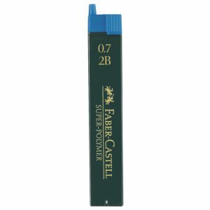 Faber-Castell Feinminen Dose mit 12 Minen 0,7mm 2B