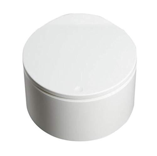 Toho Papelera de escritorio tipo empuje, para oficina, coche, creativo, papelera, papelera, papelera, color blanco