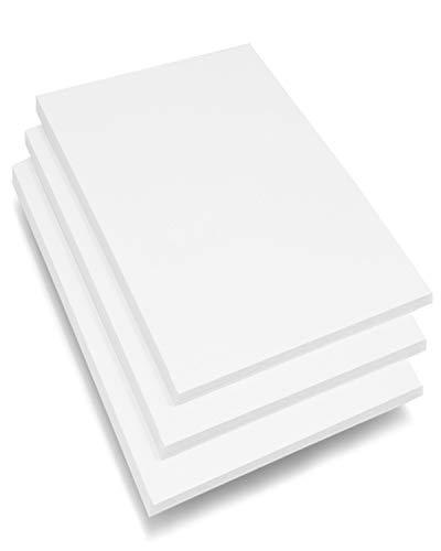 A4 Schaumstoffplatte, 3 mm, weiß, 15 Blatt, Premium-Qualität