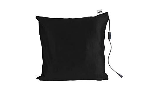 Comfy Massagekissen mit Wärmefunktion | Farbe Schwarz | 40 x 40 cm | Entspannt Rücken, Nacken, Kopf & Schultern