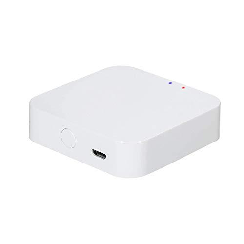 KETOTEK Tuya WiFi ZigBee 3.0 Gateway Hub Inalambrico, Smart Life App Mando, Solo para Dispositivos Compatibles con Tuya