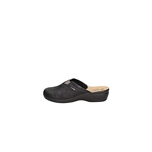 inblu, Pantofole Aperte sul Retro Donna Blu, BJ-106, Punta Chiusa Woman Tessuto (38 EU)