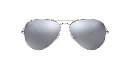 Ray-Ban Rb 3025, Gafas de Sol Unisex Adulto, Plata/ Espejo, 58 mm