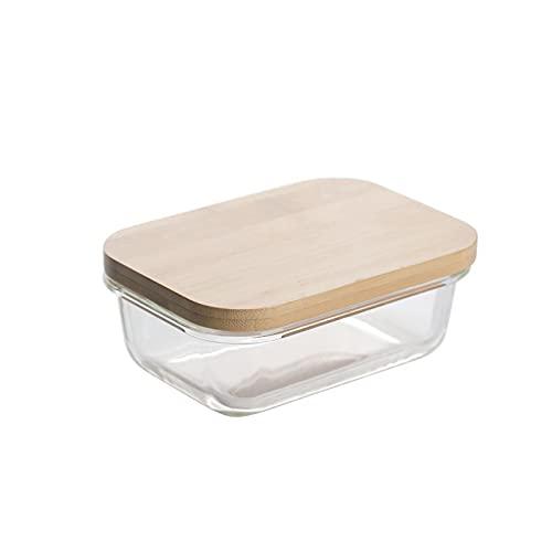 Fiambrera La caja de mantenimiento fresca de vidrio para la familia con tapas y correas, a alta temperatura, puede contener frutas, verduras y otros alimentos