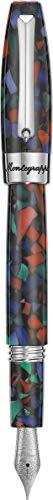Montegrappa Fortuna Mosaico Aurora Borealis - Pluma estilográfica
