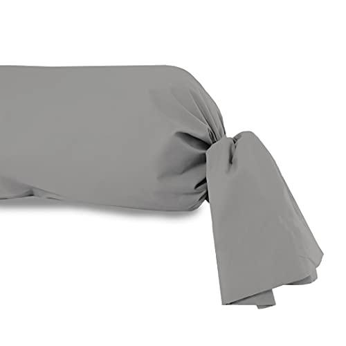 Funda de travesaño 45x135 cm, de algodón, 57 Hilos, SOLEIL D'OCRE Gris