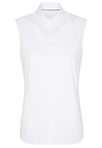 eterna ohne Arm Bluse Modern Classic Stretch unifarben