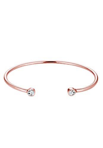 Elli Armband Damen Armreif Geo Minimal mit Kristallen in 925 Sterling Silber